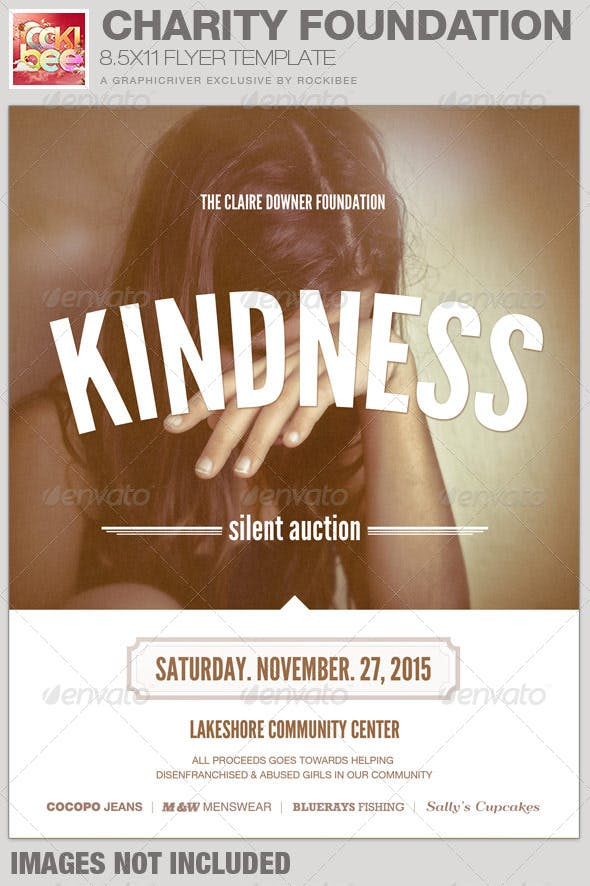 Charity Foundation Event Flyer Template Church Flyers