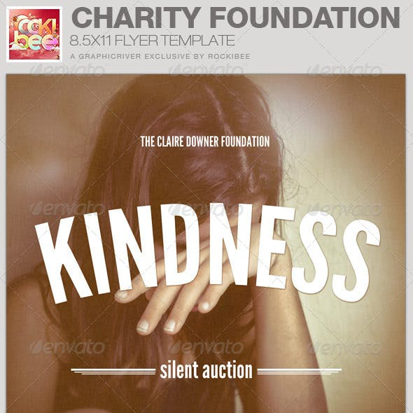 Charity Foundation Event Flyer Template
