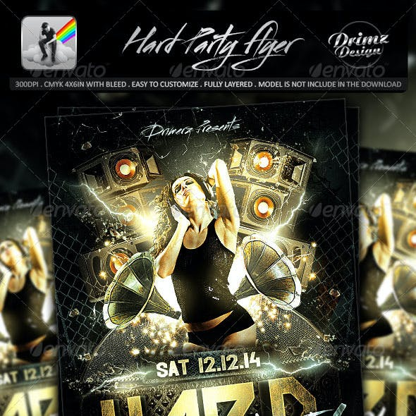 Hard Party Flyer