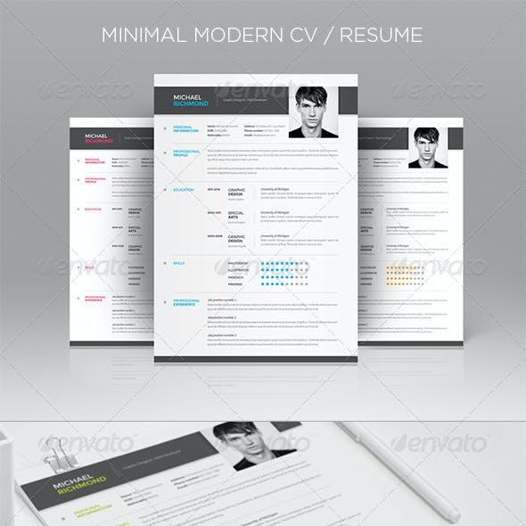 Minimal Modern CV - Resume