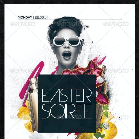 Easter Soiree Flyer Template PSD