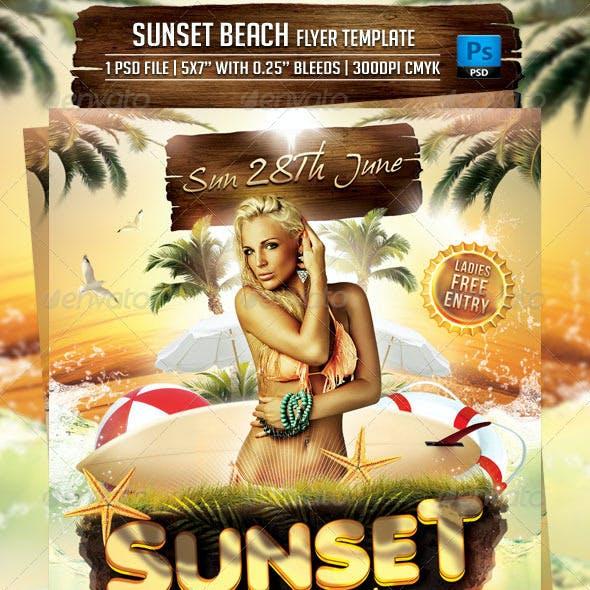 Sunset Beach Flyer Template
