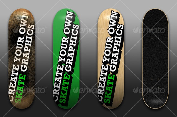 Skateboard Template - Miscellaneous 3D Renders