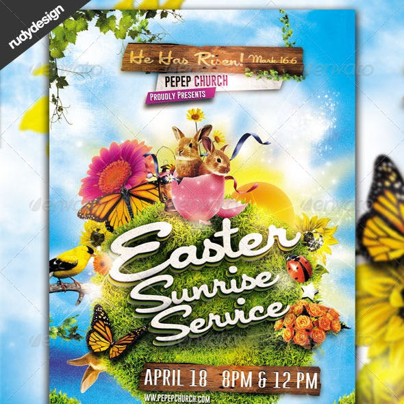 Easter Sunrise Service Flyer