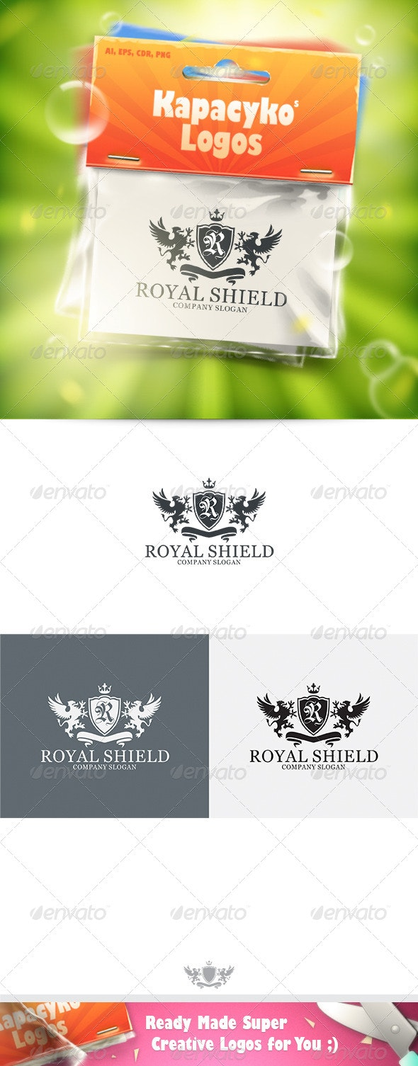 Royal Shield v.2 Logo - Crests Logo Templates