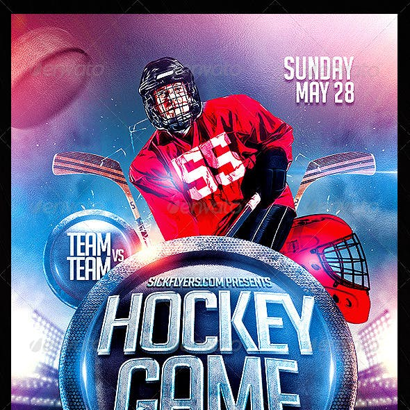 Hockey Flyer PSD