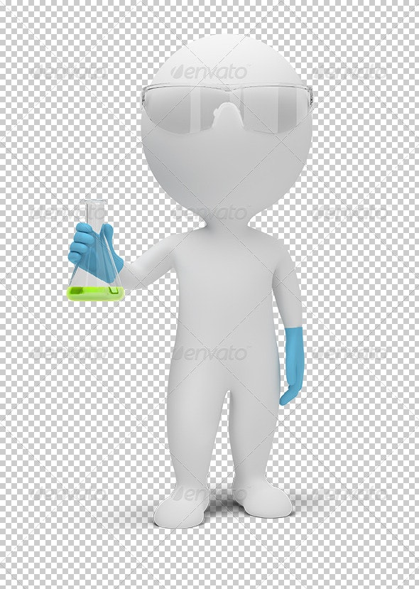 3D Small People - Scientist - Characters 3D Renders