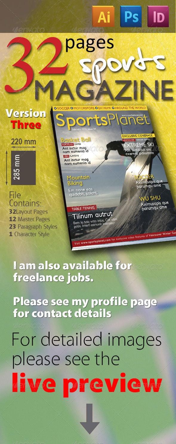 32 Pages Sports Magazine Version Three - Magazines Print Templates