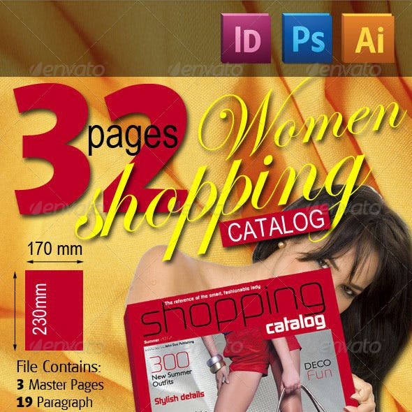 32 Pages Women Shopping Catalog