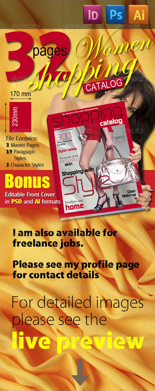 32 Pages Women Shopping Catalog - Magazines Print Templates