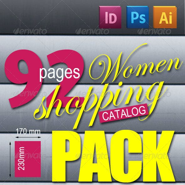 92 Pages Women Shopping Catalog Pack
