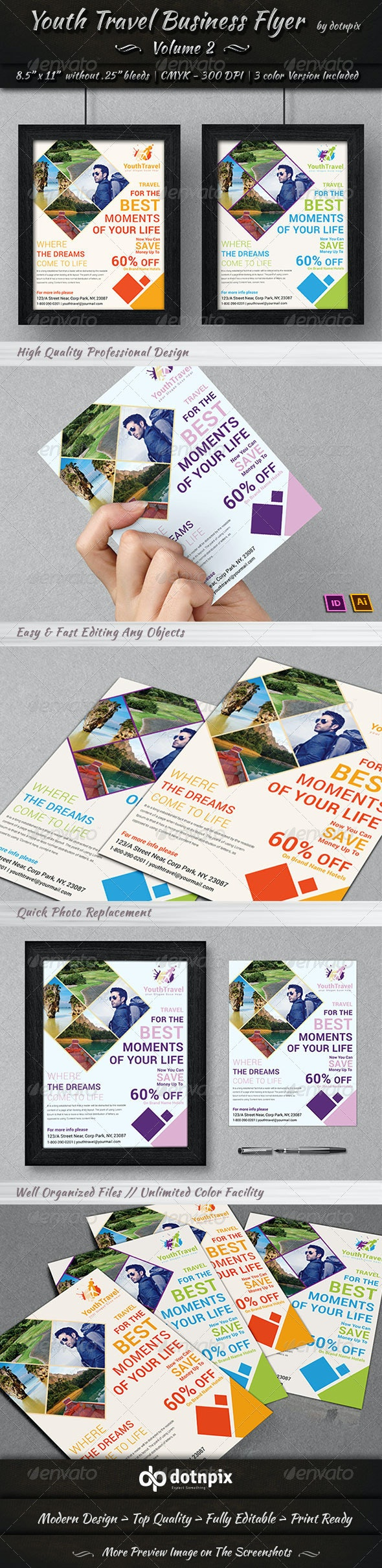 Travel / Tourism Business Flyer   Volume 3 - Corporate Flyers