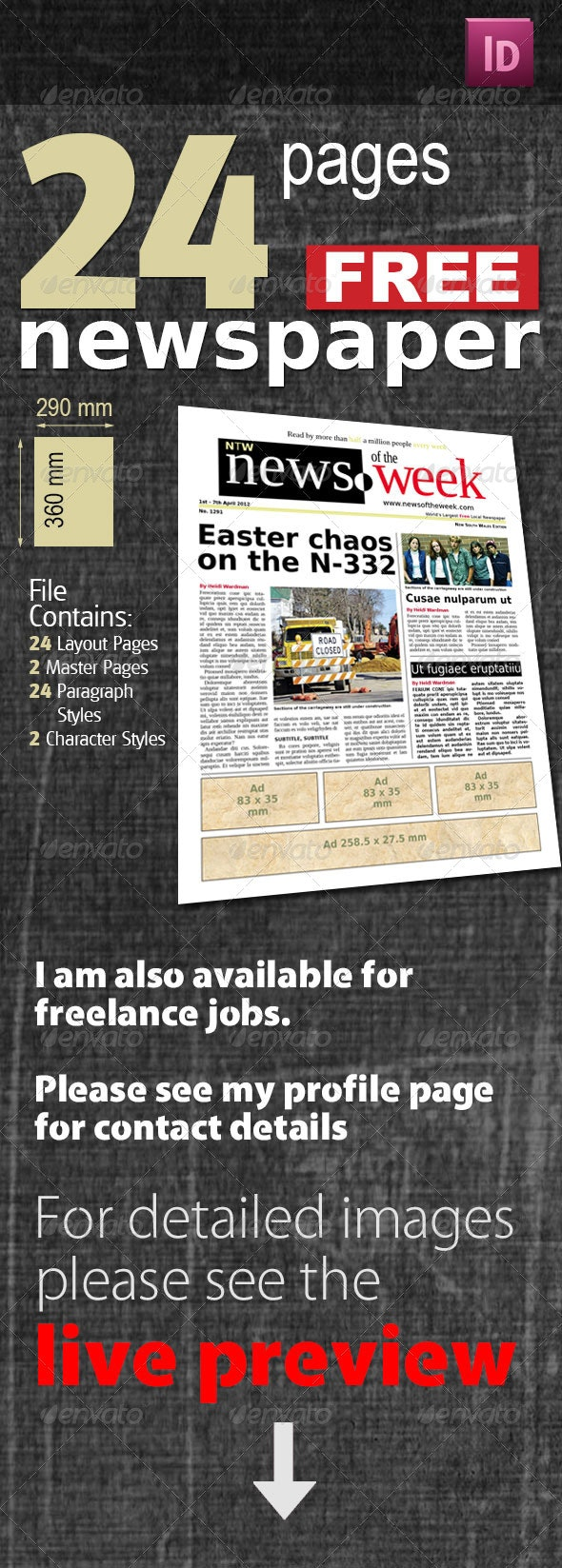 24 Pages Free Newspaper - Newsletters Print Templates