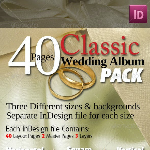 40 Pages Classic Wedding Albums Pack
