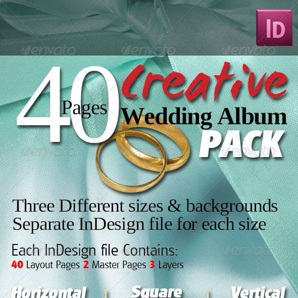 40 Pages Creative Wedding Albums Pack