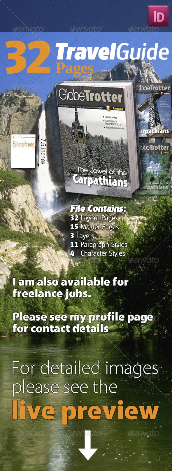 32 Pages Travel Guide - Magazines Print Templates