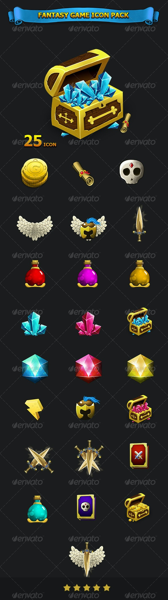 Fantasy Game Icon Pack - Miscellaneous Characters