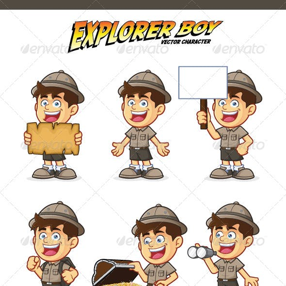 Boy Scout or Explorer Boy Character