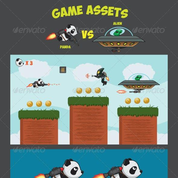 Game Assets - Panda Versus Alien
