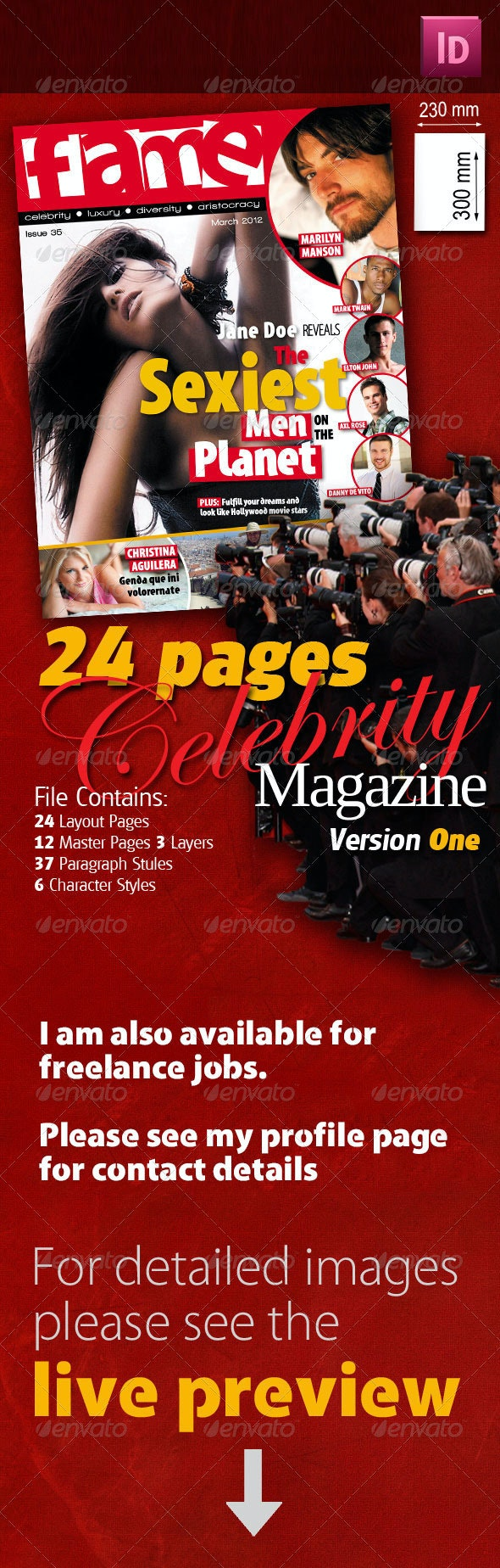 24 Pages Celebrity Magazine Version One