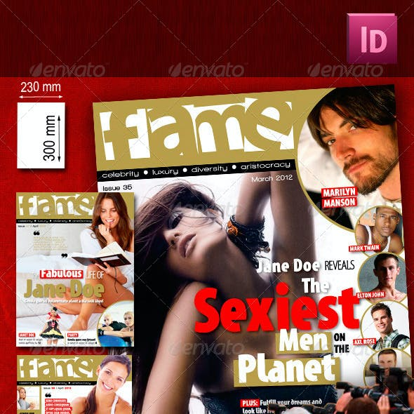 68 Pages Celebrity Magazine Pack