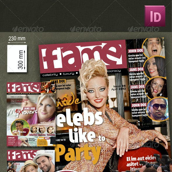 68 Pages Celebrity Magazine Pack 3