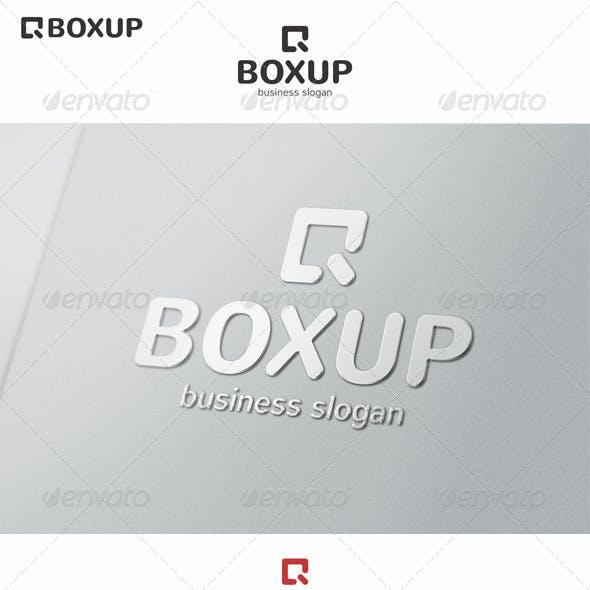 Box Up Logo Arrow