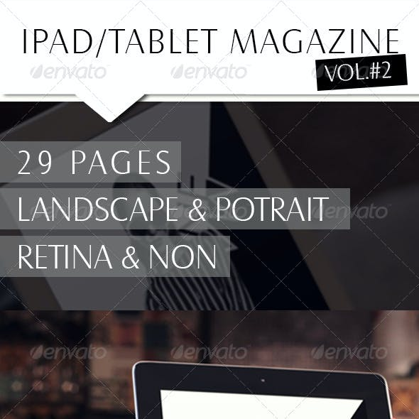 Ipad/Tablet B/W Magazine
