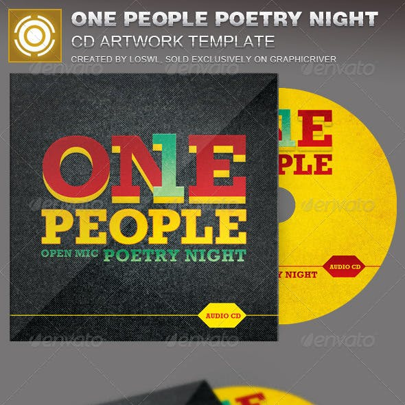 One People Poetry Night CD Artwork Template