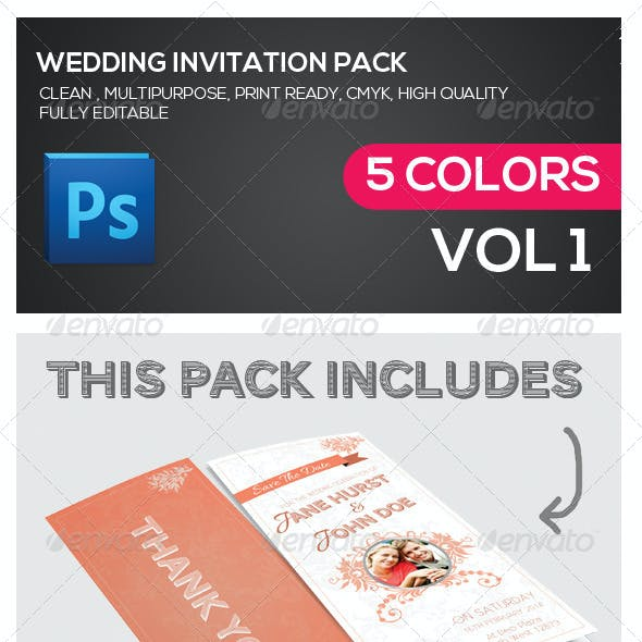 Wedding Invitation Multipurpose Pack