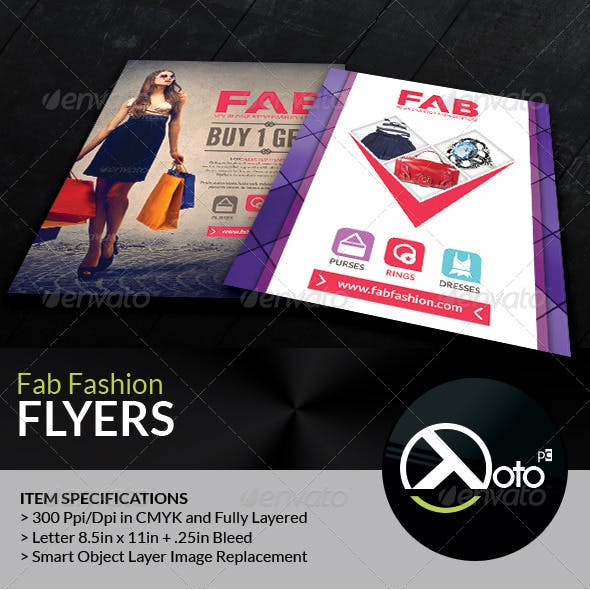 Fab Fashion Retail Sales Flyers