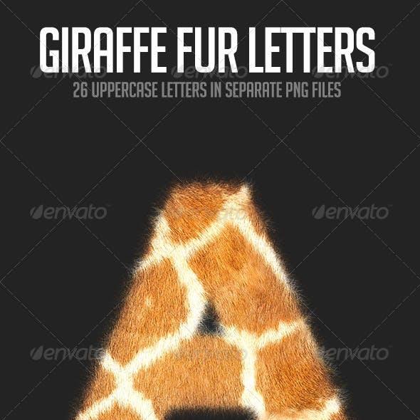 Giraffe Fur Letters