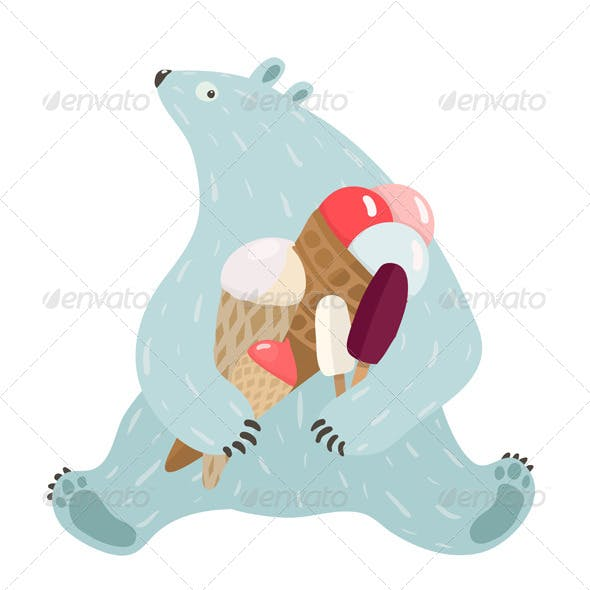 Polar Bear and Ice Cream