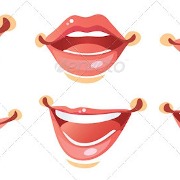 Sexy Smile Woman lips