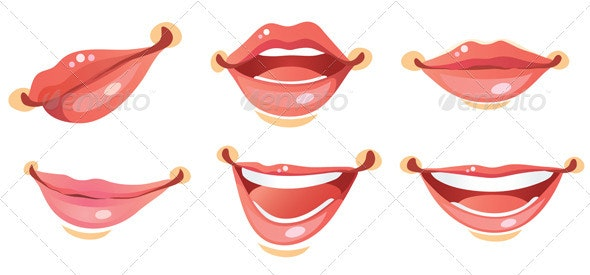 Sexy Smile Woman lips - People Characters