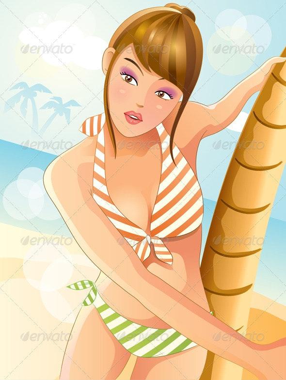 Summer Sexy Bikini Girl - People Characters