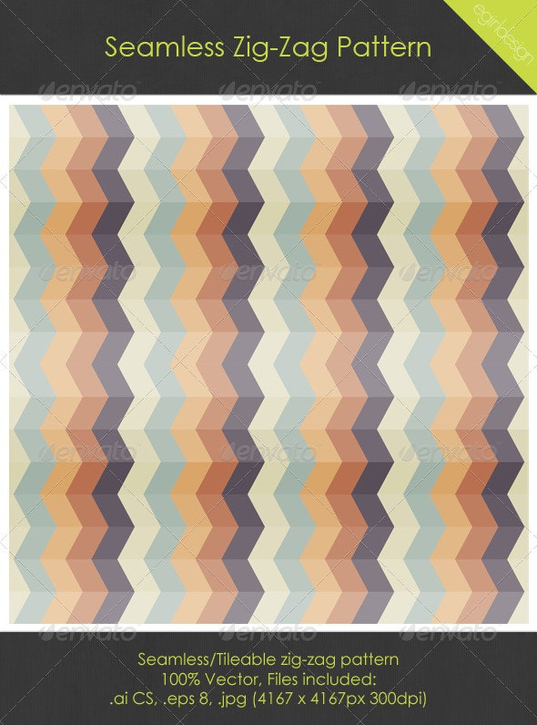 Seamless/Tileable ZigZag Pattern - Patterns Decorative