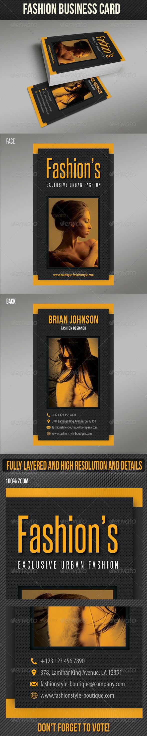 Fashion Business Card 08 - Creative Business Cards