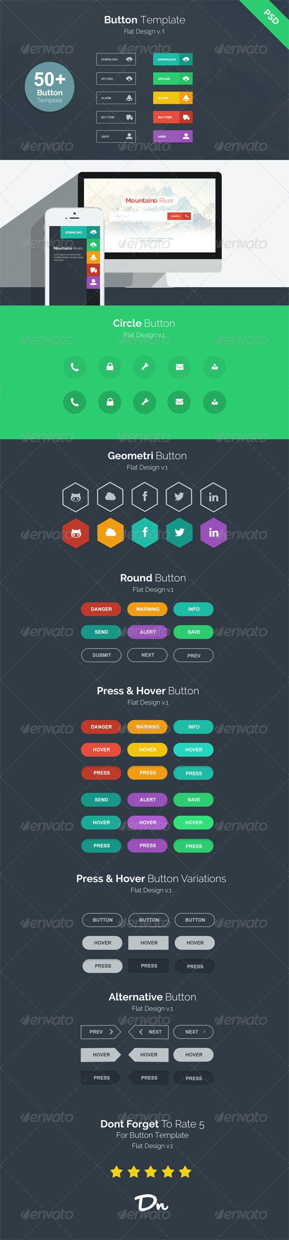 Button Template v.1 - Buttons Web Elements