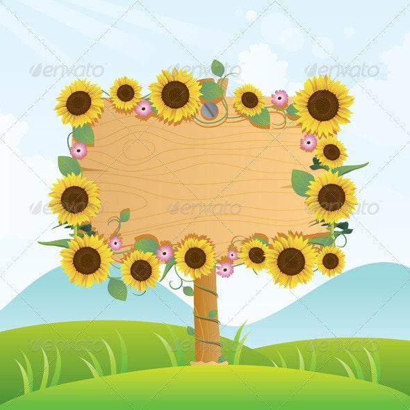 Summer Wood Signage - Decorative Symbols Decorative