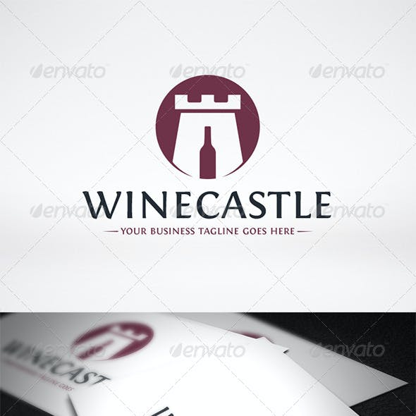 Wine Castle Logo Template