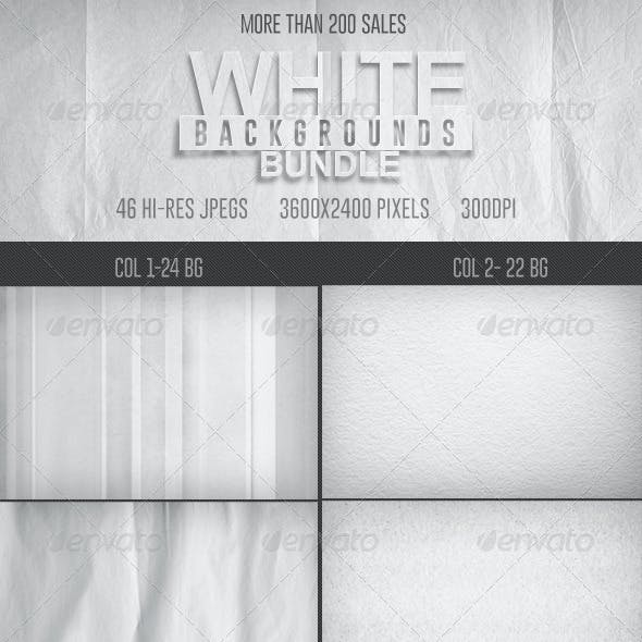 46 White Backgrounds Bundle