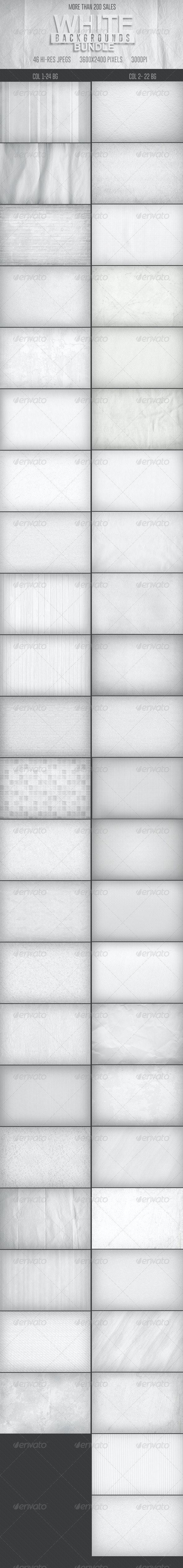 46 White Backgrounds Bundle - Backgrounds Graphics
