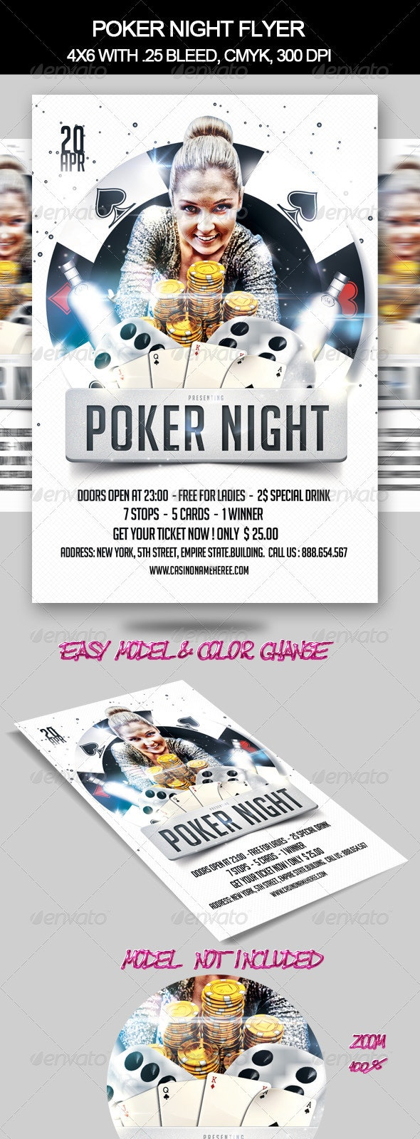 Poker Night Flyer  - Clubs & Parties Events