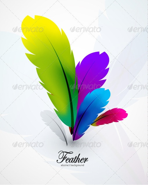 Feather background - Abstract Conceptual