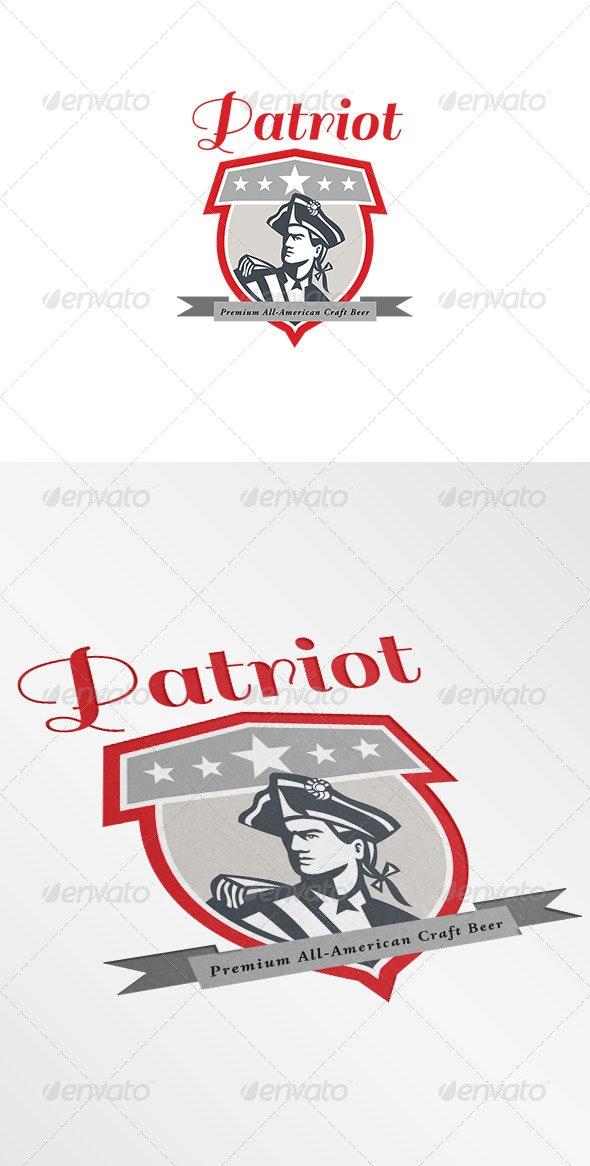 Patriot Premium All-American Craft Beer Logo - Humans Logo Templates