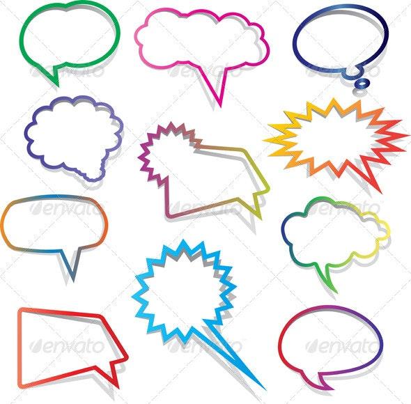 Speech bubble collection - Miscellaneous Vectors