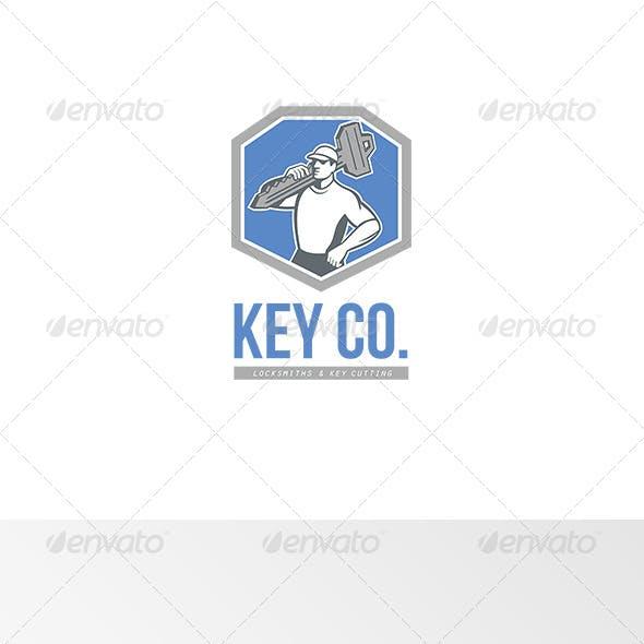 Key Co Locksmith and Key Cutting Logo