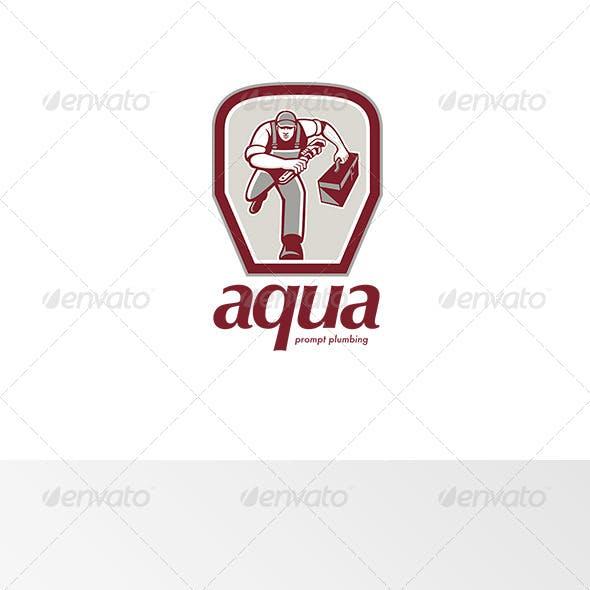 Aqua Prompt Plumbing Logo