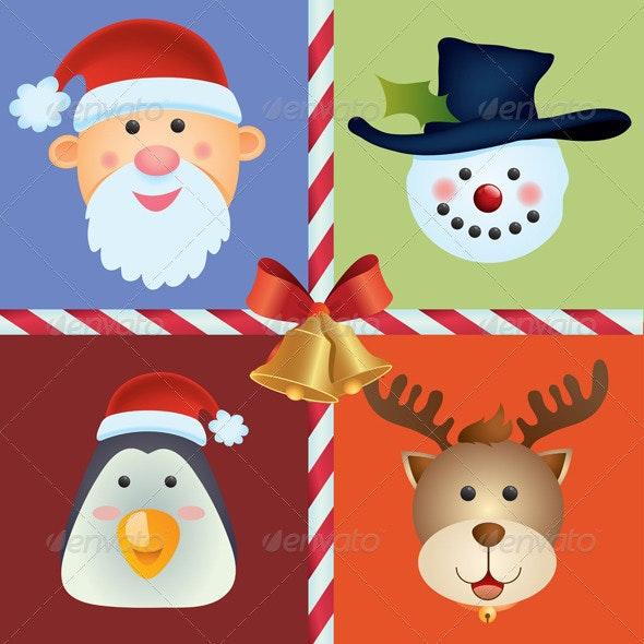 Christmas Icon Background - Decorative Symbols Decorative